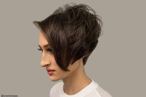 Short dark hair colors for women