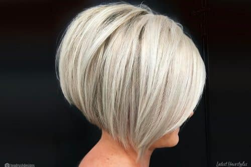 Short stacked bob haircut ideas