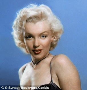 The findings showed that blonde-haired white women had an average IQ of 103.2, compared to 102.7 for those with brown hair, 101.2 for those with red hair and 100.5 for those with black hair. Marilyn Monroe pictured