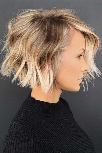 Shaggy Short Bob #haircuts #faceshape