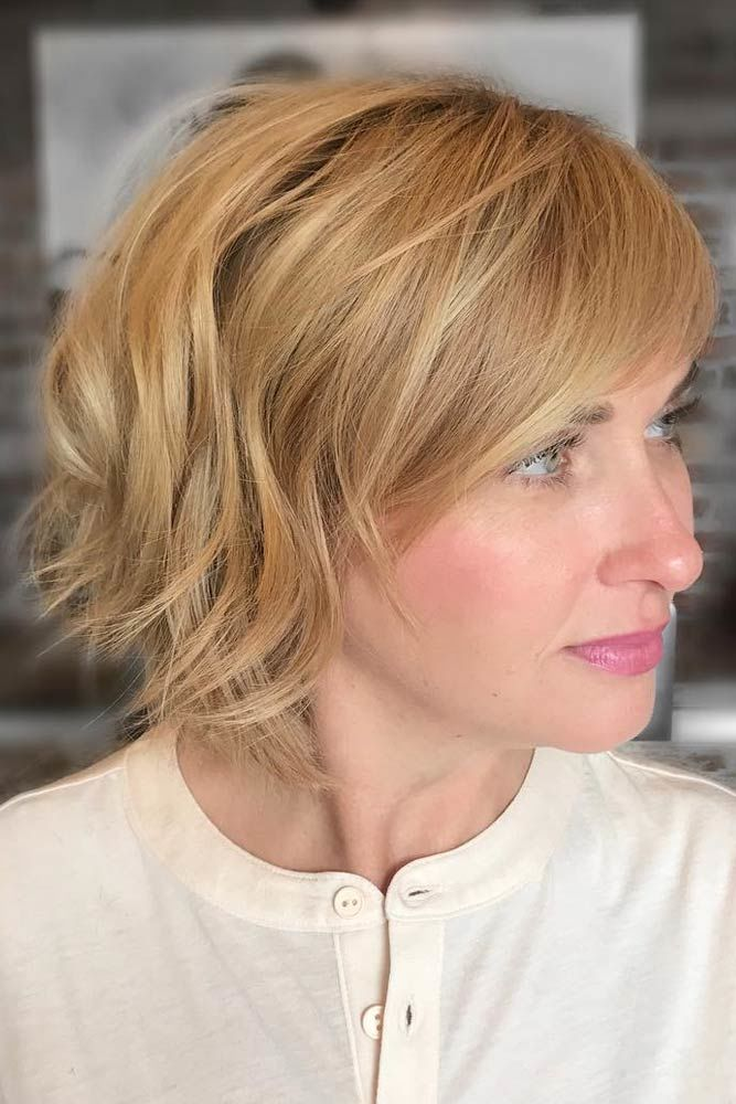 Textured Bob With Babylights #shorthaircuts #shorthairstyles #shorthair