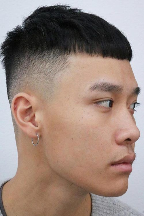 Asian Faded French Crop #hairtype #hairtypemen #fade #fadehaircut #frenchcrop #asianhair