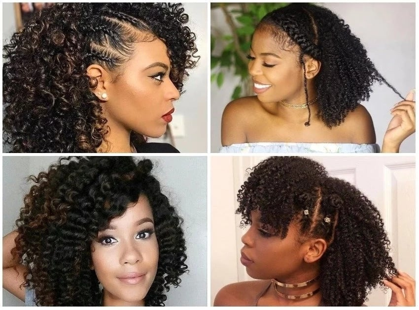 Black natural hairstyles for medium length hair