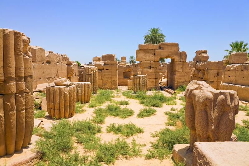 Ruins of Karnak Temple, Egypt. Ancient ruins of Karnak Temple, Egypt royalty free stock photo