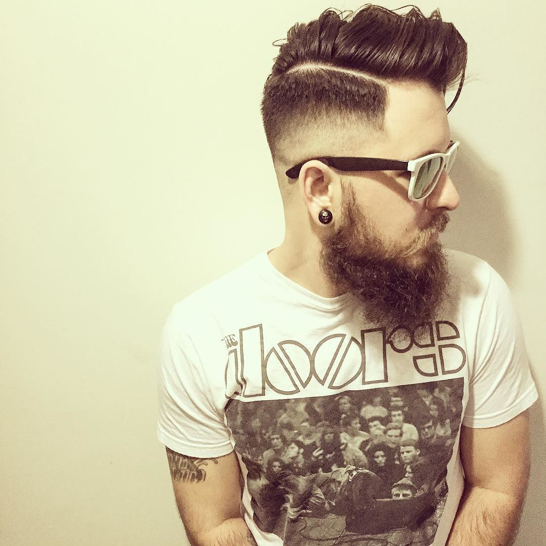Long Hair Side Part Hairstyle For Men