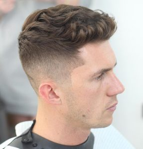 short haircut for wavy hair men 2017 quiff