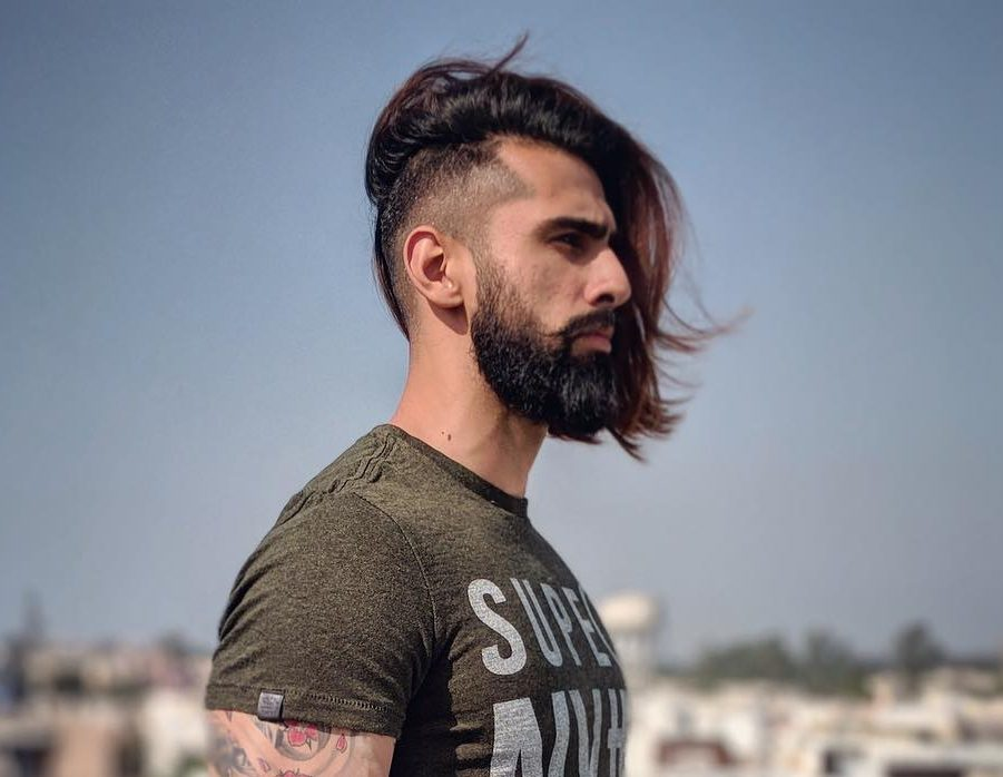 Long hair undercut fade haircut for men