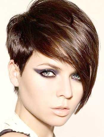 Женские короткие стрижки для прямоугольного лица